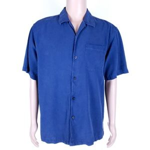 Tommy Bahama Men Button Shirt Silk Pocket Size L